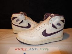 VTG OG 1985 Nike Convention PLAYER SAMPLE White Purple sz 8 850910-JDPS jordan #Nike #BasketballShoes