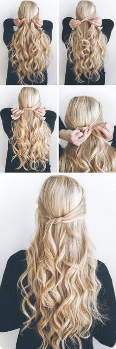 8 Simple and Easy Long Hairstyles for School #hairstyleforwoman #womanhairstyle #hairstyleideas #easyhairstyle #haircare #hairtips #hairstyletips #haircolor