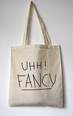 "Jutebeutel // Totebag ""UHH! FANCY"" by WALKTHEDAWG via DaWanda.com"