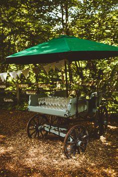 Drink Cart Station Bar Pretty DIY Outdoor Village Hall Wedding https://photography34.co.uk/