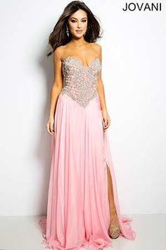 Pink Strapless Chiffon Dress 20590