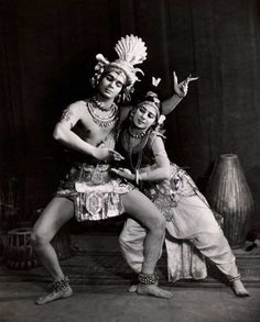 Uday Shankar and Simkie as Shiva and Parvati, 1937