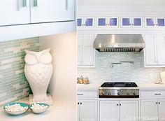 Love the backsplash. House of Turquoise: Hiya Papaya + Four Chairs Furniture