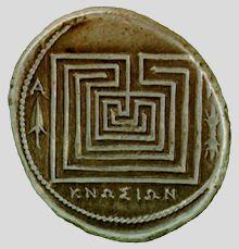 Coin from Knossos, Crete, c.280 BCE