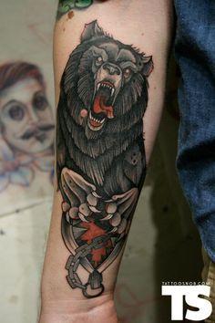 Owl | tattoos by bardoknows on Pinterest | Bear Tattoos Owl ...