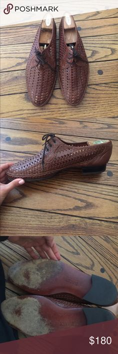 Bally brown leather shoes Balky brown leather men's shoes with nice details. Gently worn. Excellent condition! Bally Shoes