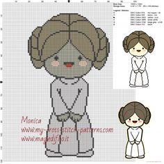 Princesa Leia (Star Wars) patrones ponto de cruz