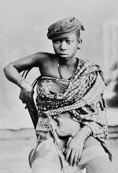 Africa | Portrait of a woman taken in Anjouan, Comoros. ca. 1895 - 1899 | Photographer unknown