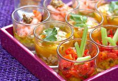 Tapas en verrineVoir la recette des Tapas en verrine >>