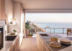 Renzo Piano designs glass tower for Miami Beach Dream Home Design, My Dream Home, Home Interior Design, House Design, Interior Livingroom, Interior Designing, Kitchen Interior, Piano Design, Bar Design