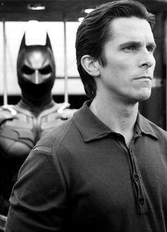 Bruce Wayne / Batman (Christian Bale) the real official batman, till they change the actor on batman vs superman (2016) -_-