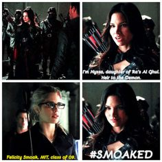 Felicity and Nyssa 2x23... don't mess with Felicity!!