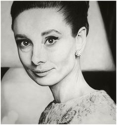 This is actually a drawing!  Audrey Hepburn 5 by ~MVVR on deviantART