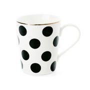 Miss Étoile - Big Black Dots Ceramic Coffee Mug
