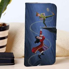 Peter Pan Tingkerbell and Captain Hook | Disney | Movie | custom wallet case for iphone 4/4s 5 5s 5c 6 6plus case and samsung galaxy s3 s4 s5 s6 case - RSBLVD