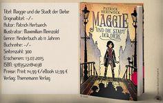 """In""""Maggieund die Stadt der Diebe""""von PatrickHertweckfand ich einen Kinderroman, der einen interessanten Plot aufweist, aber nicht gut umgesetzt wurde. Fehlende Spannung und ein zäher Schreibstil, der eher ein Graus, als ein Lesevergnügenwar.~ verworren ~ langatmig ~ brutal ~ wunderbare Buchgestaltung"""