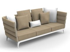 Upholstered fabric sofa with removable cover Garden sofa Pad Collection by Talenti | design Roberto Serio