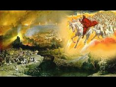 """Jesus Returns with His Army on White Horses. BIBLE SCRIPTURE: Revelation """"And I saw heaven opened, and behold a white horse; and he that sat upon him was called Faithful and True, and in righteousness he doth judge and make war. Art Prophétique, Arte Judaica, Revelation 19, He Is Coming, King Jesus, God Jesus, Lord King, Prophetic Art, Early Christian"""