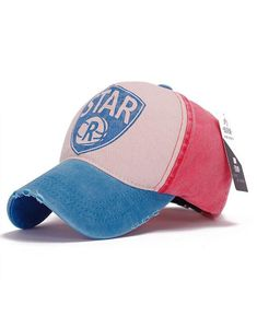 Retro Color Patchwork Letter Baseball Cap | Seamido