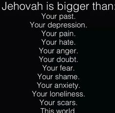 Psalms 55:22 Throw your burden on Jehovah, And he will sustain you. Never will he allow the righteous one to fall. NO HE ISN'T, & NO HE WON'T PERIOD .