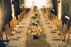 Wedding reception in a cave | Image by Bret Cole