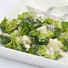 Broccoli and Feta Salad. Go Greek with this fabulous broccoli and feta salad that's packed with a wealth of exotic flavors. From the olives to the feta, you can't go wrong with this lively side.