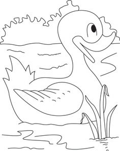 Me-the swimming champion duck coloring pages | Download Free Me-the swimming champion duck coloring pages for kids | Best Coloring Pages