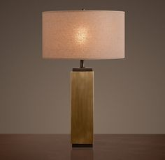 Square Column Table Lamp from RH
