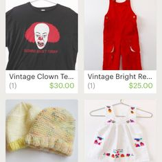 Just added this scary #vintage #clown #tee come check this out and all the other not so creepy vintage goodies I have listed