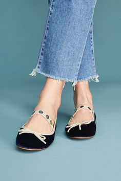 a17eed6521b Shop the Vanessa Wu Velvet Ballet Flats and more Anthropologie at Anthropologie  today. Read customer