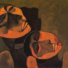 "Madre y niño"", Oswaldo Guayasamin, 1989"