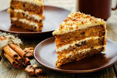 Truly our best-ever carrot cake recipe, make this classic favorite for a crowd and you might not have any leftovers to bring home. Again I made this cake but only one layer. Best-Ever Carrot Cake Ingredients 2 Top Recipes, Cake Recipes, Dessert Recipes, Healthy Desserts, Food Cakes, Cupcake Cakes, Cupcakes, Carrot Cake Ingredients, Carrot And Walnut Cake