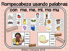 CONSONANTES - Abecedario en espanol - Trabajos para la letra Mm - (MA, ME, MI…