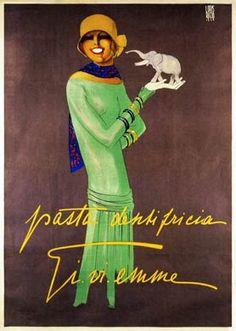 Vintage Italian Posters ~ #illustrator #Italian #posters ~ Pasta Dentrificia