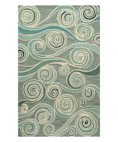 Love this Light Blue Progressive Rug on #zulily! #zulilyfinds