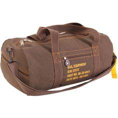 Canvas Equipment Bag - Rothco Modern Mens Fashion, Barrel Bag, Mens Style Guide, Military Fashion, Military Style, Duffel Bag, Stylish Men, Small Bags, Gym Men