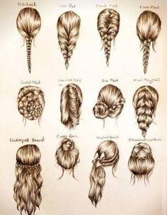 These are some cute easy hairstyles for school, or a party. (For when my hair ac… These are some cute easy hairstyles for school, or a party. (For when my hair actually grows out!) – Station Of Colored Hairs Ombré Hair, Hair Day, Braid Hair, Fishtail Ponytail, Prom Hair, Hairstyle Braid, Braided Updo, Tips Belleza, About Hair