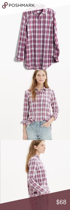 Madewell Ex-boyfriend Shirt in Manhasset Plaid PRODUCT DETAILS A timeless button-down shirt in a muted plaid with a bit of a '70s vibe. Slightly oversized with ready-to-roll sleeves, this version is just right. NWOT. Sold out and received rave reviews online.  True to size. 💯 Cotton. Machine wash. Import. Item C4395. Madewell Tops Button Down Shirts