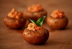 Raw Walnut Pate Stuffed Mushroom Caps - Who knew there was #vegan, #RawFood that actually sounds good to ME??