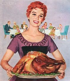 My Paisley World: A (Vintage) Thanksgiving Turkey Dinner