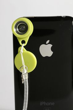 Must have: Colorful lenses attach  to the camera viewer on your iPhone to create all sorts of effects! Coiled keychain attached.