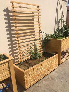 wood #planters #garden #organic #gardenfurniture ... on