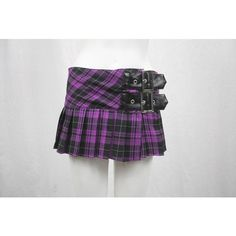 purple plaid skirt ❤ liked on Polyvore