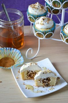 Baklava Cupcakes - I'd make them with pecans because that's what my YiaYia used in her baklava.