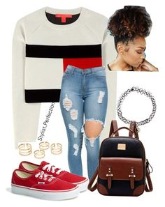 """Untitled #382"" by mindlesslovinforever21shoppinjaz on Polyvore featuring Tommy Hilfiger, Vans, Accessorize, women's clothing, women's fashion, women, female, woman, misses and juniors"