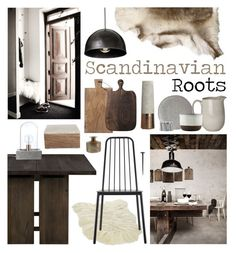 """""""Scandinavian Roots"""" by ladomna ❤ liked on Polyvore featuring interior, interiors, interior design, home, home decor, interior decorating, Bloomingville, House Doctor, Kanna Shoes and Crate and Barrel"""