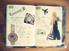 journal pages with photos