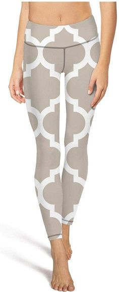 Junnanp Tribal Design Yoga Pants for Women Girls Workout High Waisted Leggings
