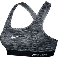Nike Pro Classic Padded Reflect Print Sports Bra , Black/Dark... ($44) ❤ liked on Polyvore featuring activewear, sports bras, sports bra, tops, white sports bra, nike activewear, nike sportswear, nike and yoga activewear