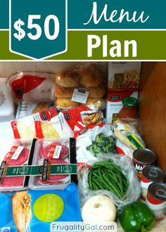 Frugal Living: My $50 Meal Plan and 6 Ways I keep costs down. Frugal Living Ideas Frugal Living Tips #frugal